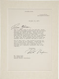 Movie/TV Memorabilia:Autographs and Signed Items, Richard Nixon Signed Letter to Glenn Ford....