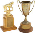 Movie/TV Memorabilia:Awards, Glenn Ford's Kanab Rodeo Trophies.... (Total: 2 Items)