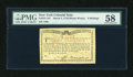Colonial Notes:New York, New York March 5 ,1776 (Water Works) 8s PMG Choice About Unc 58....