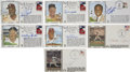 Autographs:Post Cards, Hall of Famers Signed First Day Covers Lot of 7.... (Total: 7items)