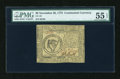 Colonial Notes:Continental Congress Issues, Continental Currency November 29, 1775 $8 PMG About Uncirculated 55EPQ....