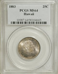 Coins of Hawaii: , 1883 25C Hawaii Quarter MS64 PCGS. PCGS Population (286/230). NGCCensus: (171/188). Mintage: 500,000. (#10987). From Th...