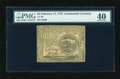 Colonial Notes:Continental Congress Issues, Continental Currency February 17, 1776 $4 PMG Extremely Fine 40....