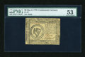 Colonial Notes:Continental Congress Issues, Continental Currency May 9, 1776 $8 PMG About Uncirculated 53....