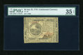 Colonial Notes:Continental Congress Issues, Continental Currency July 22, 1776 $6 PMG Choice Very Fine 35EPQ....