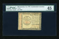 Colonial Notes:Continental Congress Issues, Continental Currency January 14, 1779 $40 PMG Choice Extremely Fine45....