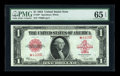 Large Size:Legal Tender Notes, Fr. 40 $1 1923 Legal Tender Star Note PMG Gem Uncirculated 65EPQ....