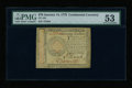 Colonial Notes:Continental Congress Issues, Continental Currency January 14, 1779 $70 PMG About Uncirculated53....