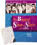 Music Memorabilia:Autographs and Signed Items, Biggest Show of Stars for 1960 Autographed Program Book....