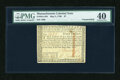 Colonial Notes:Massachusetts, Massachusetts May 5, 1780 $7 Uncancelled PMG Extremely Fine 40....
