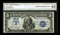 Large Size:Silver Certificates, Fr. 281 $5 1899 Silver Certificate CGA Choice Uncirculated 63....