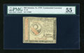 Colonial Notes:Continental Congress Issues, Continental Currency January 14, 1779 $30 PMG About Uncirculated55....