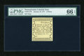 Colonial Notes:Pennsylvania, Pennsylvania January 18, 1777 Joseph Ogden Private Issue 5d PMG GemUncirculated 66 EPQ....
