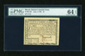 Colonial Notes:Rhode Island, Rhode Island July 2, 1780 $1 PMG Choice Uncirculated 64 EPQ....