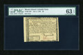 Colonial Notes:Rhode Island, Rhode Island July 2, 1780 $8 PMG Choice Uncirculated 63 EPQ....