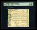 Colonial Notes:Georgia, Georgia 1773 20s PMG Choice Extremely Fine 45 Net....