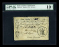 Colonial Notes:South Carolina, South Carolina March 6, 1776 L50 PMG Very Good 10 Net....