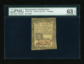 Colonial Notes:Pennsylvania, Pennsylvania October 25, 1775 1s PMG Choice Uncirculated 63 EPQ....