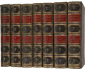 Books:Fiction, George Eliot. Novels of George Eliot - Eight Volumes Boundin Seven. Edinburgh and London: William Blackwood and... (Total: 7Items)