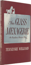 Books:First Editions, Tennessee Williams. The Glass Menagerie. New York: RandomHouse, [1945]. First edition, second printing....