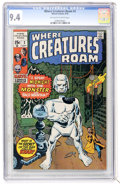 Bronze Age (1970-1979):Horror, Where Creatures Roam #2 (Marvel, 1970) CGC NM 9.4 Off-white towhite pages....