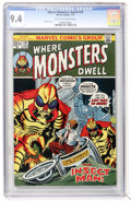 Bronze Age (1970-1979):Horror, Where Monsters Dwell #19 (Marvel, 1973) CGC NM 9.4 Off-white towhite pages....