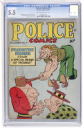 Golden Age (1938-1955):Superhero, Police Comics #71 (Quality, 1947) CGC FN- 5.5 Cream to off-white pages....