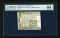 Colonial Notes:Connecticut, Connecticut June 19, 1776 1s6d PMG Choice Uncirculated 64 EPQ....