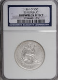 Seated Half Dollars, 1861-O 50C NG NGC. SS Republic, Shipwreck Effect. Housed in a SSRepublic Box. Mi...
