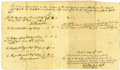 "Autographs:Statesmen, Roger Sherman Document Signed (also signed by Jonathan Trumbull).One page, 12.5"" x 7.5"", Fairfield, ..."