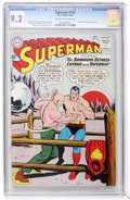 Silver Age (1956-1969):Superhero, Superman #164 (DC, 1963) CGC NM- 9.2 Off-white to white pages....