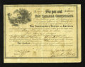 Confederate Notes:Group Lots, Ball 362; 364; 367; 369 $100; $500; $1000; $5000 1864-65 Six PerCent Non Taxable Certificates. The $100 is an AU; the $... (Total:4 items)
