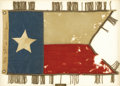 "Military & Patriotic:Civil War, Confederate Texas State ""Lone Star"" Cavalry Guidon This rare ""Lone Star"" pattern state flag was ""captured"" (confiscated) at ..."