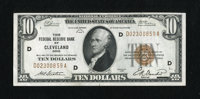 Fr. 1860-D $10 1929 Federal Reserve Bank Note. Extremely Fine+. This $10 has been lightly handled
