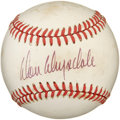 Autographs:Baseballs, Don Drysdale Single Signed Baseball. Blue pen signature on thesweet spot of an Official NL Giamatti ball. Toning along al...