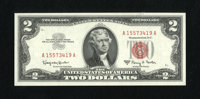 Fr. 1514 $2 1963A Legal Tender Note. Superb Gem Crisp Uncirculated. Wide margins, embossing, and centering combine to ma...