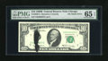Error Notes:Ink Smears, Fr. 2020-G $10 1969B Federal Reserve Note. PMG Gem Uncirculated 65EPQ.. At its widest point this approximate two inch black...