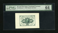 Fr. 1243SP 10c First Issue Medium Margin Face Specimen Choice Uncirculated 64 EPQ. This Medium Margin Specimen is listed...