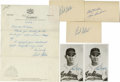Autographs:Others, Cleveland Indians Hall of Famers Signatures Lot of 6. Here we offer a half dozen signed pieces that come to us via three of...