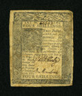 Colonial Notes:Delaware, Delaware January 1, 1776 4s Very Fine....