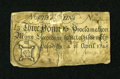 Colonial Notes:North Carolina, North Carolina April 4, 1748 £3 Good, backed....