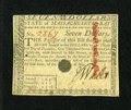 Colonial Notes:Massachusetts, Massachusetts May 5, 1780 $7 About New, POC....