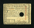 Colonial Notes:Massachusetts, Massachusetts May 5, 1780 $20 About New, POC....