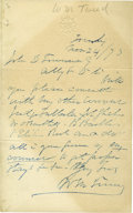 "Autographs:Celebrities, William ""Boss"" Tweed Autograph Letter Signed ..."