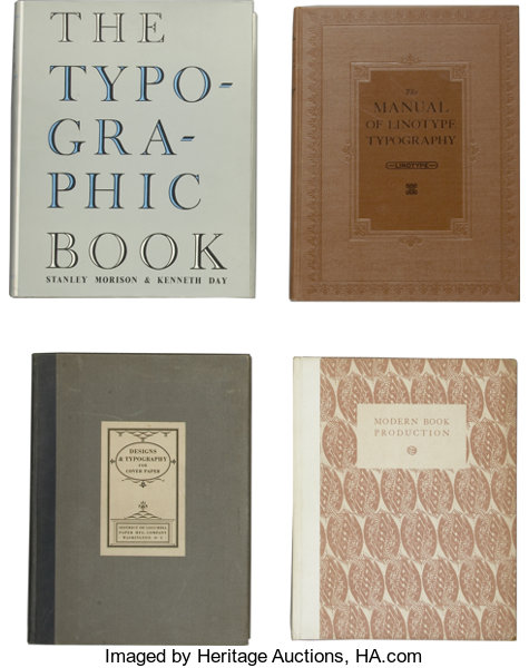 new arrival 480ef b603d Books Non-fiction, Lot of Four Typography Books.... (