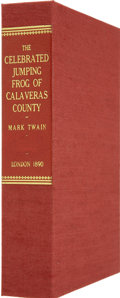 Books:First Editions, Clamshell Conservation Case for The Celebrated Jumping Frog ofCalaveras County....