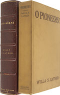 Books:First Editions, Willa Cather. O Pioneers! Boston: Houghton Mifflin Company,1913....