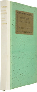 Books:Signed Editions, Willa Cather. Obscure Destinies. New York: Alfred A. Knopf,1932. First edition, limited to 260 copies, of which thi...