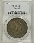 Coins of Hawaii: , 1883 $1 Hawaii Dollar XF45 PCGS. PCGS Population (108/222). NGCCensus: (38/163). Mintage: 500,000. (#10995)...