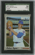 Baseball Cards:Singles (1970-Now), 1970 Topps Nolan Ryan #712 SGC 50 VG/EX 4....